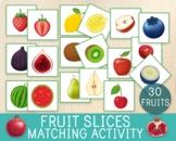 Fruit Slices Matching Activity, Outside & Inside Fruits, M