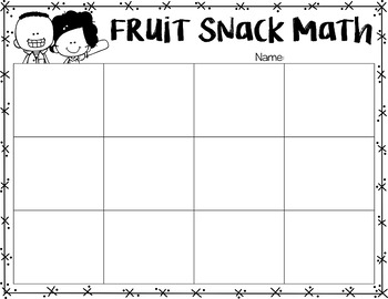 Fruit Snack Math {A Review Activity}