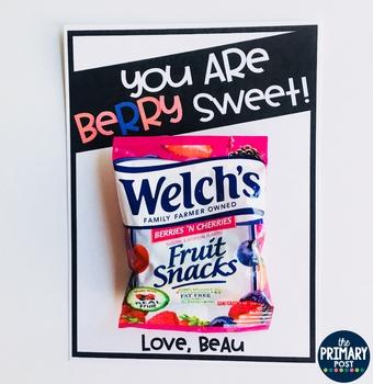 Fruit Snacks Valentine FREEBIE
