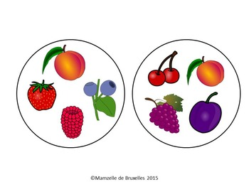 Fruit Spot-it game / Jeu Spot-it des fruits