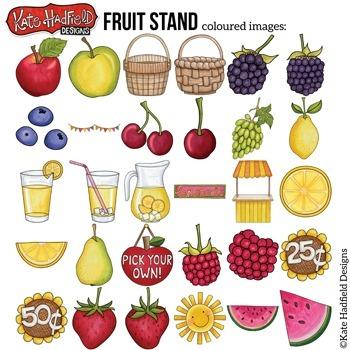 """Lemonade Stand Summer Clip Art: """"Fruit Stand"""""""