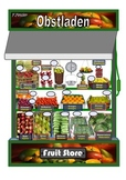Fruit Store Bilingual A3 Poster. German/English