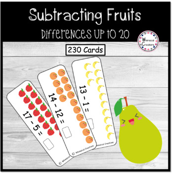 Fruit Subtraction Cards