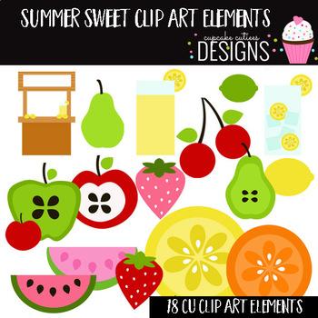 Fruit Summer Sweet Digital Clip Art Elements