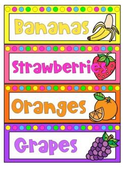 Fruit Theme Group Labels