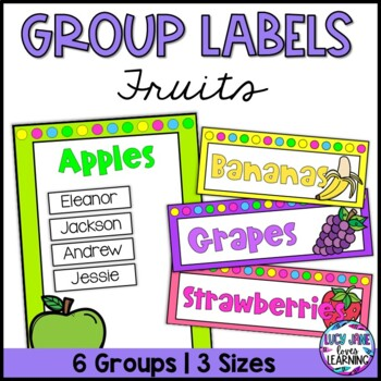 Fruit Group Labels