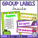 Fruit Theme Group Labels