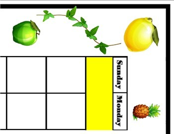 Fruit Calendar! Fruit Bulletin Board! Fruit Classroom! Fru