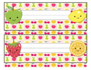 Fruit Theme Name Tags