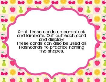 Fruit Theme Shape Wall Cards