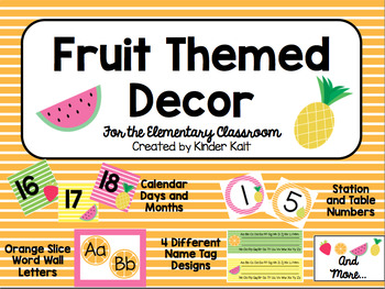 Fruit Classroom Decor