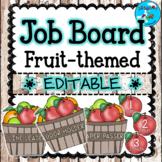 Fruit Themed Classroom Job Bulletin Board ⭐Editable!⭐