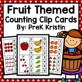 Fruit Themed Counting Clip Cards