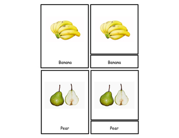 Fruit Three Part Cards