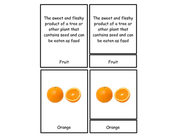 Fruit Three Part Cards