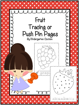 Fruit Tracing Or Push Pin Pages