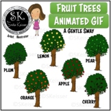 Fruit Trees Clip Art, Animated GIF Trees, Forest Trees