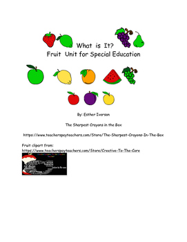 Fruit Unit for Special Education