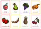 Fruit & Veg Themed Flash Cards. ESOL. ENGLISH Functional Skills.