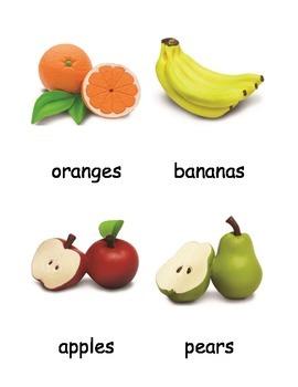Fruit & Vegetable 3-Part Cards