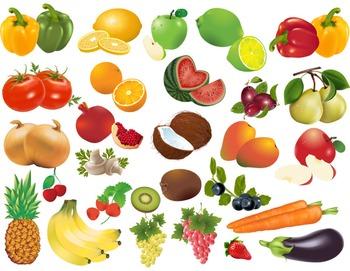 Fruit Vegetable Clip Art - Lemon Tomato Mashroom Grape App