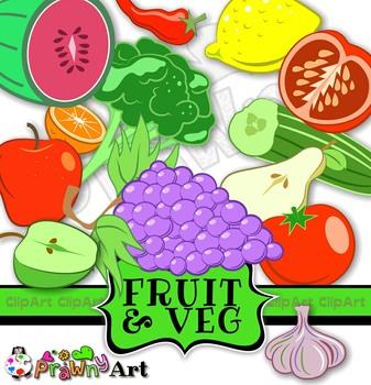 Fruit & Vegetable Mega Clip Art Pack