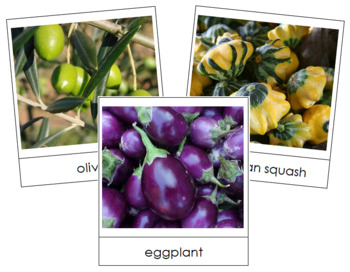 Fruit Vegetable Picture Cards (Set 1)