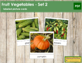 Fruit Vegetable Picture Cards (Set 2)