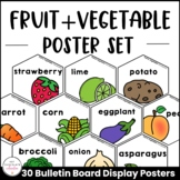 Fruit & Vegetable Posters | Classroom Bulletin Board / Word Wall