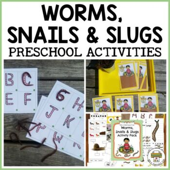 Worm Snail and Slug Themed Activities for Pre-K, Preschool and Tots