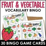 Fruit & Vegetable Vocabulary Bingo Game | ESL Activity