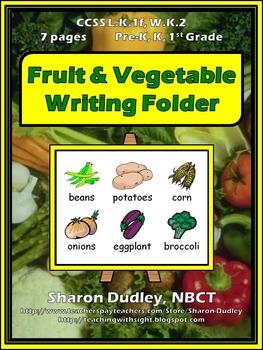 Fruit & Vegetable Writing Folder