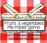 Fruit & Vegetables File Folder Game
