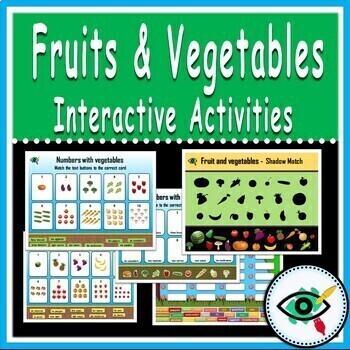 Fruit and Vegetables digital interactive activities