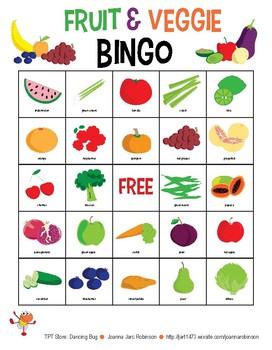 Fruit & Veggie Bingo