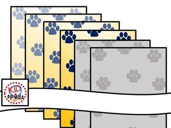 Fruit Veggie Bulldog Footprints Backgrounds Binder Covers