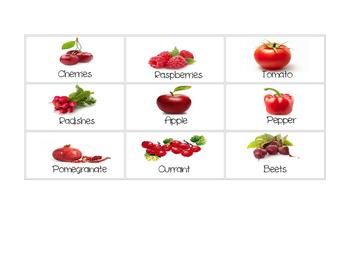 Fruit & Veggie Color Sorting Activity