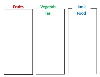 Fruit, Veggie, Junk Food File Folder