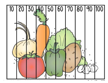 Fruit & Veggie Number Counting Puzzles