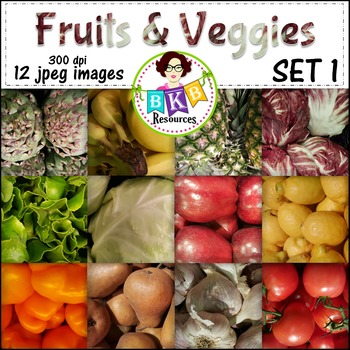 Fruit & Veggies Background Papers -{Graphics for Commercial Use}