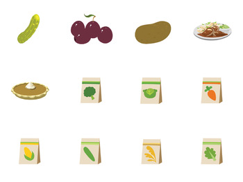 Fruit, Veggies, and Food Clip Art - Vegetables and Seeds - AAC or PECS