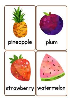 Fruit Vocabulary Flash Cards