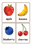 Fruit Vocabulary Flash Cards