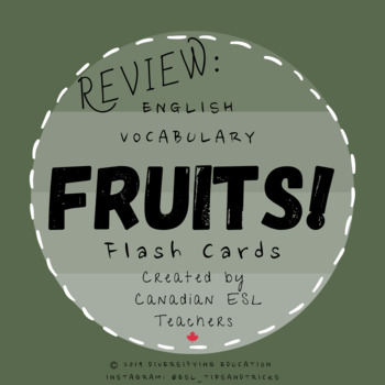 Fruit Vocabulary Flashcards (ESL)