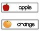 Vocabulary Word Cards--Fruit