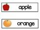 Vocabulary Word Cards--Fruit