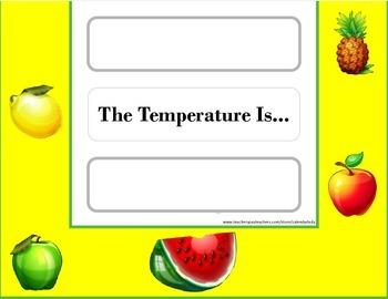 Fruit Weather Chart! Fruit Bulletin Board! Fruit Theme! Healthy Eating!