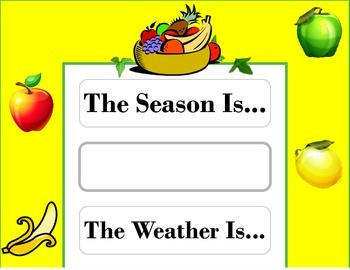 Fruit Weather Chart! Fruit Bulletin Board! Fruit Theme! He