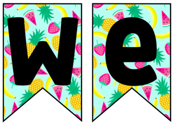 Fruit Welcome Banner!