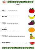 Fruit Word Unscramble - 2 Pages
